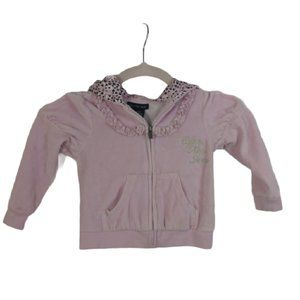 Calvin Klein Pink Velour Zip Up Jacket 24 mo